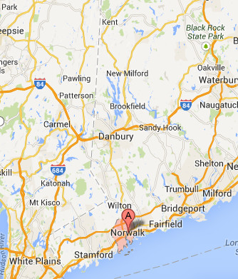 Computer Repair Norwalk Service Map